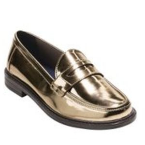 Cole Haan Pinch Campus Metallic Penny Loafers